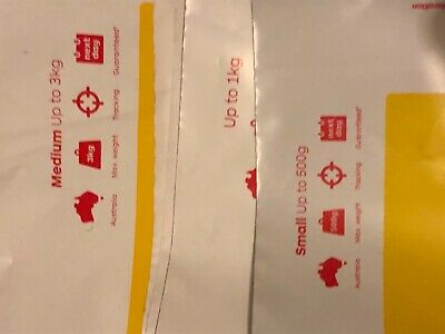 7 X Mix Of Express Post  Aust Post Pre-Paid Satchels With Tracking