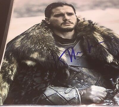 kit harington G o t game of thrones  SIGNED 8 x 10 photo AUTOGRAPH PICTURE AUTO