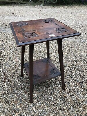 Arts and crafts antique vintage mahogany side table bed side coffee wooden wood