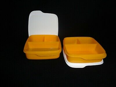 Free Shipping Lunch It Container &Seal Set 2 Divided Kids ToGo Travel New Papaya