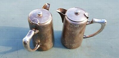Vintage British military issue coffee pots made by Mappin and Webb Ltd in 1960