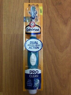 Arm & Hammer Spinbrush Pro Clean Powered Soft Toothbrush GREEN