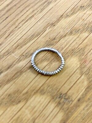 Rare Viking Silver Childs Ring Twisted Norse Eternity Loop Circa 950-1000Ad