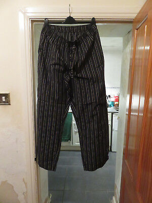 Marks and Spencers relaxed black mix striped Mens Loungewear Bedwear Large