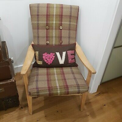 Vintage retro mid century reapholstered Parker Knoll armchair