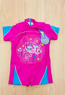 Girls Miss Zoggy Inflatable Swim Suit Costume Float Age 18-24 Months