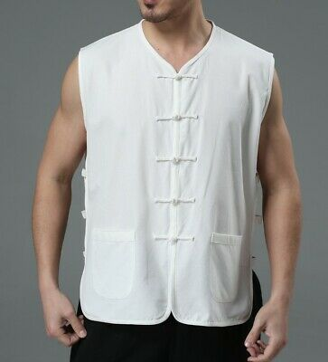 Mens Sleeveless Vest Undershirt Chinese retro style T shirts Waistcoat Summer