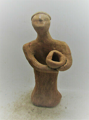 Circa 3000-2000Bce Ancient Soumerian Terracotta Worshipper Holding Offering