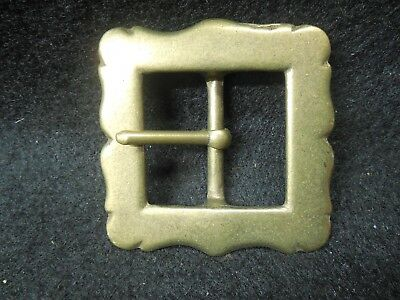 """Made in England  Pirate style solid brass 1 3/4"""" belt buckle or harness buckle"""