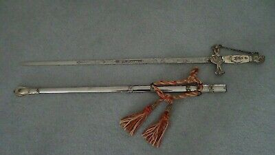 Sword & Scabbard Lilley Ohio Mosonic Knights Templar vintage Very ornate Rare
