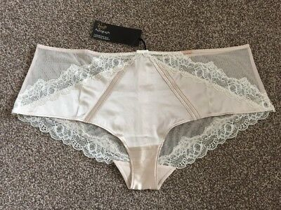 M/&S PALE PINK LACY LOW RISE SHORTS UK 12 BNWTS