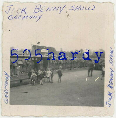 WWII US GI Photo - 28th Infantry Division GIs At USO Jack Benny Show Germany
