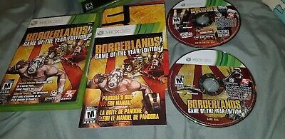 Borderlands -- Game of the Year Edition (Microsoft Xbox 360, 2010)