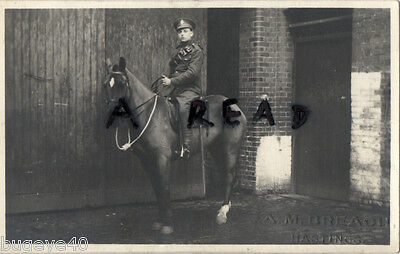 WW1 Soldier Tpr F. H. Turner 2nd 1st Surrey Yeomanry 12.2.1916 Hastings photo