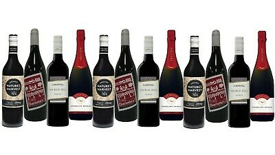 AU Best Seller Red Shiraz Varietal Mixed Wine Pack - 12x750mL FREE SHIPPING