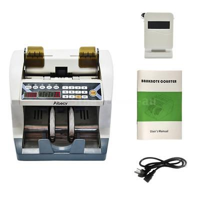 Aibecy Automatic AU Cash Banknote Money Bill Counter Money Count Machine UV MG