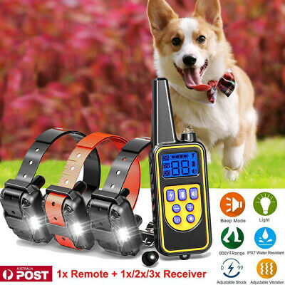 Anti Bark Stop Barking Dog Training Device Collar Rechargeable Remote+3 Receiver