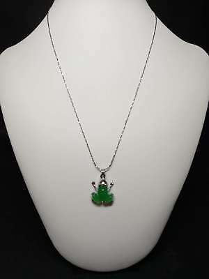 Exquisite Silver Inlaid Natural Jade Necklace & Pendant    Q798