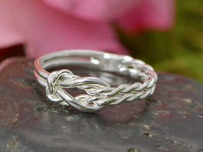 NEW Fashion Silver Infinity Rope Women Wedding Engagement Band Promise Ring #10