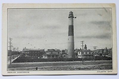 Old UDB postcard ABSECON LIGHTHOUSE, ATLANTIC CITY, N.J., pre 1907