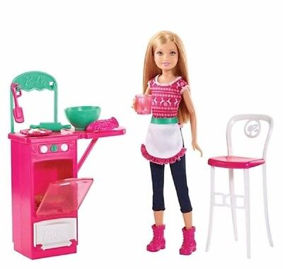 BARBIE Sisters' Baking Fun NRFB 2015 Target Exclusive Holiday Set Stacie Doll