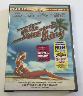 NEW AND SEALED The Sure Thing (DVD, 2003, Special Edition)