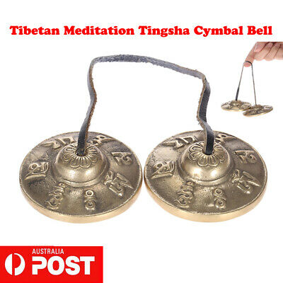 2.6in/6.5cm Handcrafted Tibetan Meditation Tingsha Cymbal Bell Lucky Symbols Hot