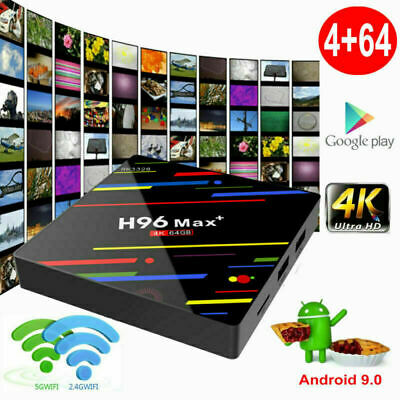 New H96MAX+ 4+64G Android 9.0 Pie Quad Core 4K Smart TV BOX DUAL WIFI BT 4.0 USB