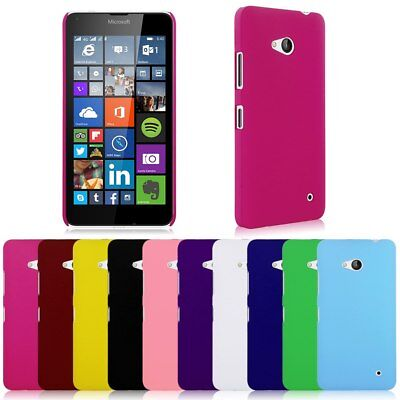 Hard Rubberized Plastic Case Cover Shell For Microsoft Lumia 640 LTE / Dual SIM