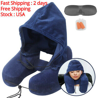 Neck Pillow Inflatable Travel Pillow Comfortably Supports The Head Neck and Chin
