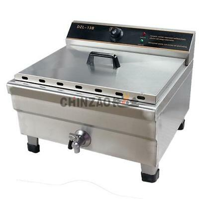 New Commerical Large 20L Deep Fryer With One Basket And Side Tray Wty