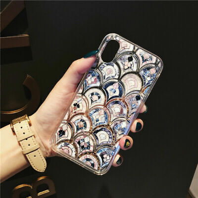 Bling Marble Mermaid Scale Quicksand Phone case for iPhone 7 8 Plus X XS Max XR