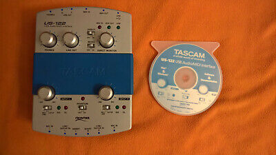 TASCAM US-122 MKII Audio MIDI Interface-With USB Cable, Software