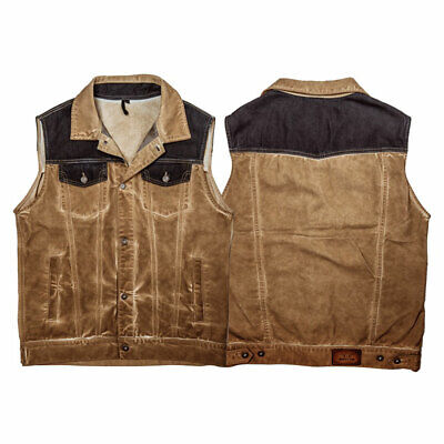 Rokker Mixed Motorbike Motorcycle Vest Canvas