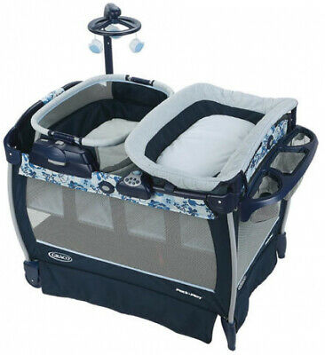 Graco Pack n Play Neaby Napper Playard with Rocker and Bassinet Accessory Tessa