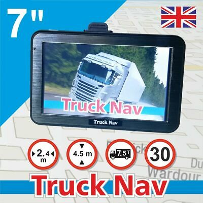 "7"" Camper GPS SAT NAV Car Navigation Navigator FM BT Speedcam UK EU Map"