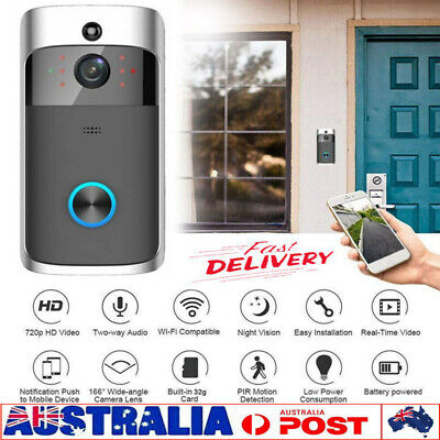 Smart Wireless Phone Door Bell Camera WiFi Smart Video Intercom Ring Doorbell AU