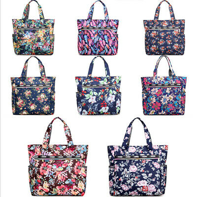 Ladies Womens Large Print Pattern Shoulder Canvas Tote Holiday Beach Bag New
