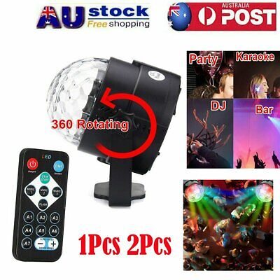 RGB LED Effect Disco Light Stage DJ Laser Club Party Crystal Magic Ball+Remote