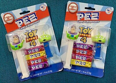 Disney Pixar Toy Story 4 Pez Dispensers Buzz Lightyear & Alien NEW