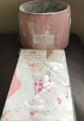 Mothercare My Little Garden Duvet Cover Set Cot Bed / Toddler Bed & Lamp Shade