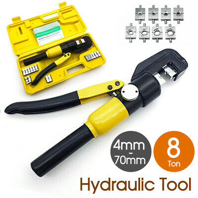 8 Ton Hydraulic Terminal Crimper Cable Wire Force Tool Kit 9 Die 4mm-70mm AU