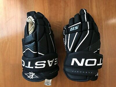 Easton S11 Ice Hockey Gloves Black White Size Small 13inches 33 cm