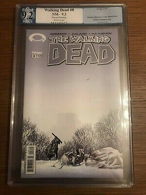 The Walking Dead # 8 NM 2nd Print Variant Image Comics PX World Graded 9.2 CGC