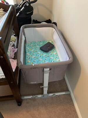 Childcare Cosy Time Sleeper Baby Bassinet Bed Cot Grey