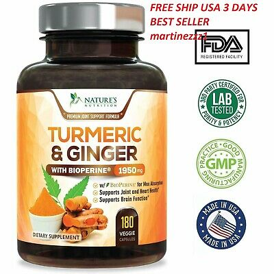 Tumeric Curcumin Max Potency With Ginger Bioperine Black Pepper 1950 Mg 120 Ct