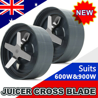 2x 600/900w Extractor Cross Blade Replacement Parts Fit For Nutribullet Blender