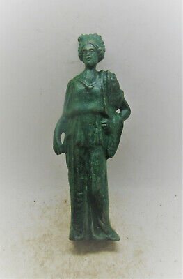 Scarce Circa 100-400Ad Roman Period Bronze Statue Of Venus Lovely Patina
