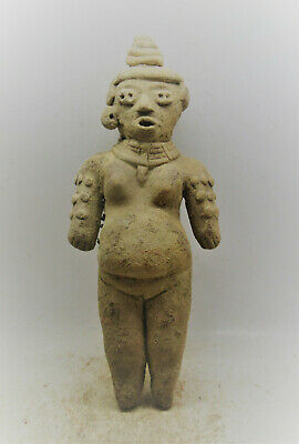 Scarce Circa 3000Bce Ancient Near Eastern Terracotta Worshipper