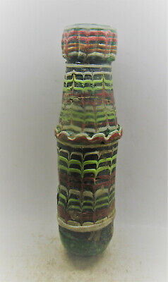Very Rare Circa 1000Bce Ancient Phoenician Mosiac Glass Vessel
